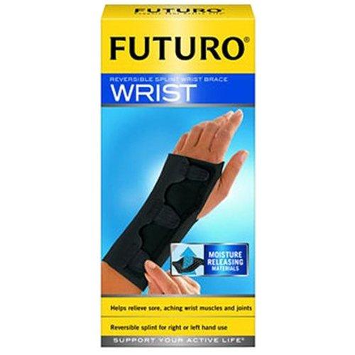 FUTURO Splint Wrist Brace, Black, Medium 1 ea