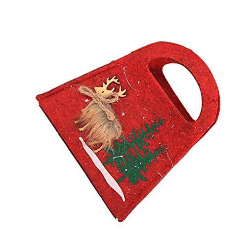 Qinghengyong Elk Weihnachtsbaum Mini-Süßigkeit-Geschenk-Verpackung Handtaschen bewegliche Hochzeit Sack Geschenk-Beutel Weihnachtsparty süße Leckerei Pouch 3