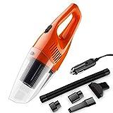 ASdf Handheld Car 12v Vacuum Cleaner Mini DC with LED Light Portable Car