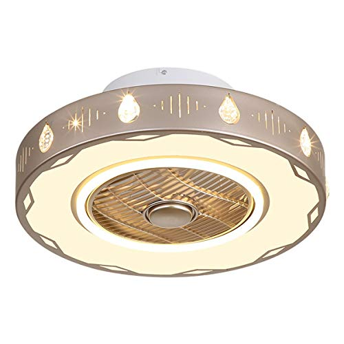 Dyha Plafondventilator, licht met afstandsbediening, moderne led-ventilator, dimbaar, intelligent, stil en onzichtbaar