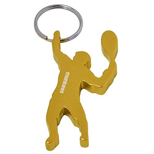 munkees Schlüsselanhänger Tennis-Figur Flaschenöffner, Sport-Fans, Gelb, 34922