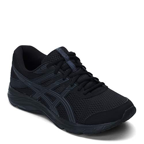 ASICS Men's Gel-Contend 6 Running Shoes, 11.5, Black/Black
