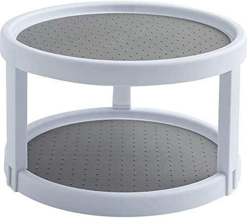Double Layer Lazy Susan for Cupboard Pantry Cabinet Turntable Rotatable...