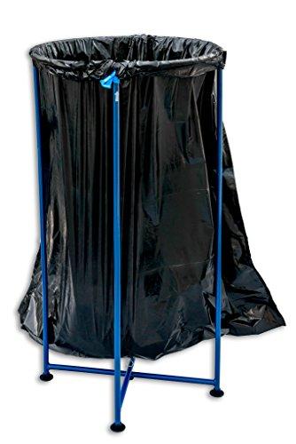 PortoTrash Steel Foldable, Portable Trash Receptacle, Blue