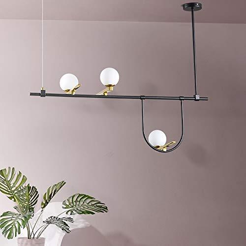 Warme lamp voor woonkamer, slaapkamer, creatieve decoratie Foyer Primo Piano glazen bol met drie lampen