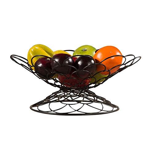 mooderff fruitmand metaal, fruitschaal vintage zwart, smeedijzeren tabletvorm fruitmand voor snack fruit