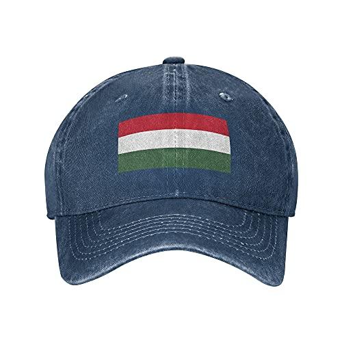 cercehy sonxs Ungarn Erwachsene Baseball Cap Klassische Unisex Verstellbare Sportmütze Cowboyhut Hip Hop Cap Schirmmütze für Männer Frauen Navy-7-7 3/8