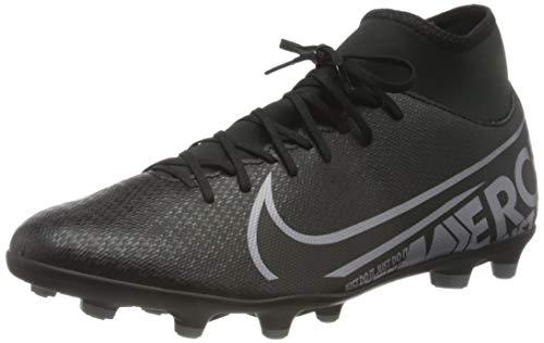 Nike Unisex-Erwachsene Superfly 7 Academy FG/MG Fußballschuhe, Mehrfarbig (Black/MTLC Cool Grey-cool Grey 001), 45.5 EU