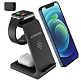 Wireless Charger Stand, CIYOYO 3 in 1 Fast Wireless Charging Station Dock for Apple Watch Series 6/SE/5/4/3/2, Airpods Pro 2, iPhone 12/12 Pro/12 Pro Max/11/11Pro Max/SE/X/XR/XS/XS Max/8 Plus QI Phone