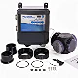 XtremepowerUS 90146 Complete Salt System Electronic Generator Chlorination Easy DIY Installation for Swimming Pools up to 35,000 Gallons, Black