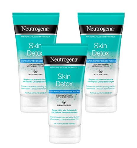 Neutrogena Skin Detox Hautverfeinerndes Peeling, sanftes Waschpeeling mit Glycolsäure (3 x 150 ml)