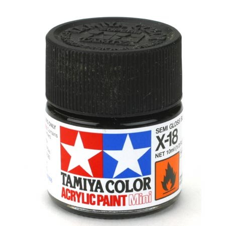 Acryl Farbe 10ml seidenmattes Schwarz X18