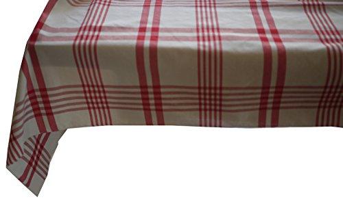 Linder à Carreaux, Polyester, Rouge, 145x290 cm