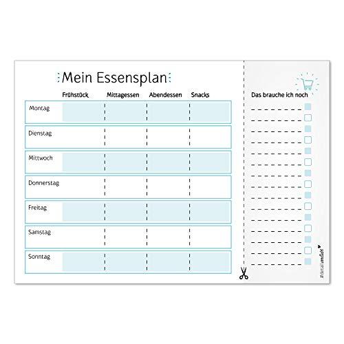 Notiz-Block Mein Essensplaner I dv_257 I DIN A4 I 50 Blatt I Essens-Organizer mit Einkaufs-Liste Vordruck Block für Familien zum Abreißen