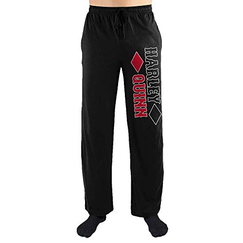 DC Comics Harley Quinn Sleep Pants-Large Black