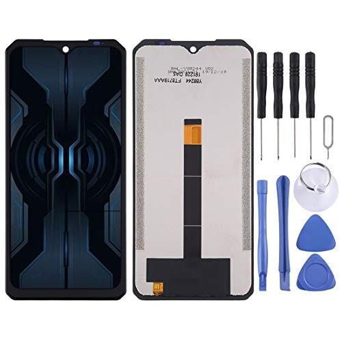 Mingxian Panel táctil + LCD Buena Asamblea para Doogee S95 Pro (Color : Black)