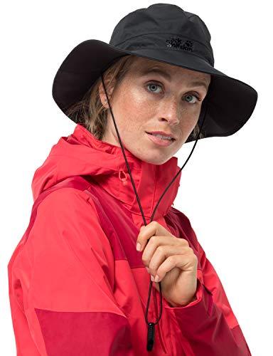 Jack Wolfskin Erwachsene Wasserdichter Regenhut TEXAPORE ECOSPHERE RAIN HAT, black, L, 1907501-6000004