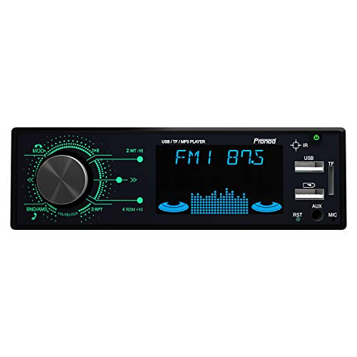 Pronod P300 Car Mp3 Player with Feather Touch Buttons/Front Dual USB/Mobile Charging/SD Card/Bluetooth BT/Aux/FM Radio / 50W X 4 Channel Car Radio Stereo System