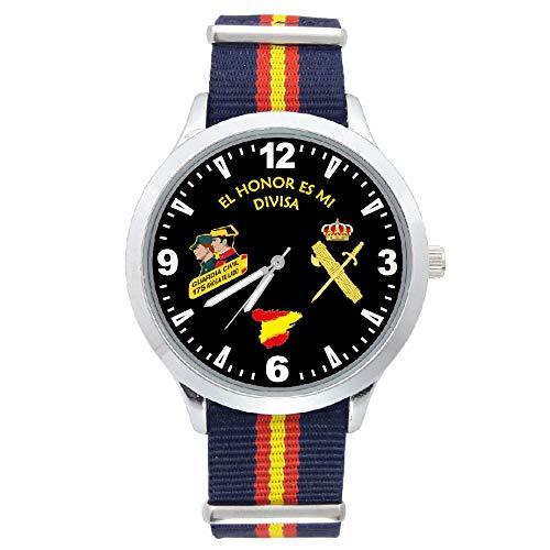 Reloj G&B Guardia Civil Correa Bandera España Azul Esfera Negra