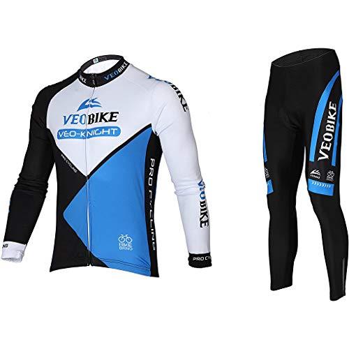 Gnaixyc Ropa Ciclismo Hombre, Camiseta De Manga Larga Maillot Ciclismo + Pantalon/Culote...