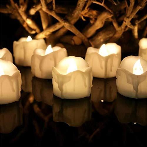 JJZSHKY 12 U/Box LED Elektronische theelicht theelicht simulatie kaarslicht bruiloft decoratie lichte kaars (geel)