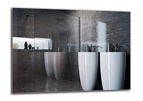 Miroir Standard - Miroir sans Cadre - Taille du Miroir 110x80 cm - Miroir pour Salle de Bain - Miroir Mural - Salle de Bain - Salon - Cuisine - Hall - M1ST-01-110x80 - ARTTOR