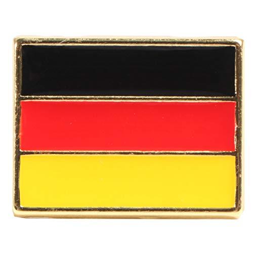 Happyyami Alfileres de La Bandera Nacional Alfiler de Solapa de Esmalte Embrague Alfileres de Broche Insignia de Ramillete Accesorios de Vestuario para Bolsas de Ropa Mochilas (Alemania)