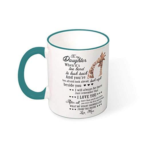 BBOOUAG Taza de cerámica con diseño de jirafa para el hogar, para cumpleaños, con capacidad de 330 ml
