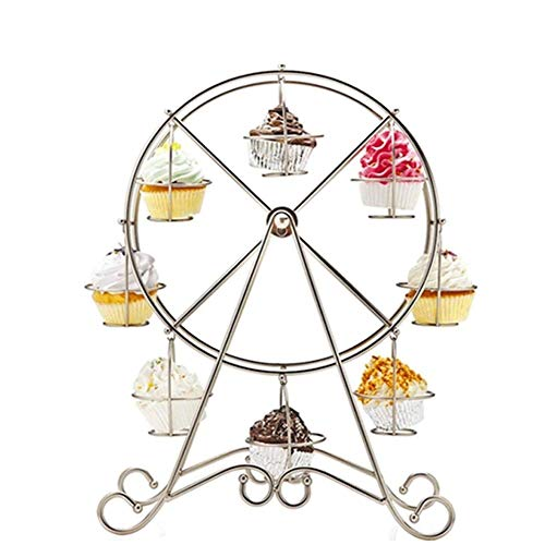 Fruitschalen, 8 Beker Silver Party Reuzenrad Cake Stand, Wedding Display Stand Silver Wedding Stand, Decoratie van de Cake Stand