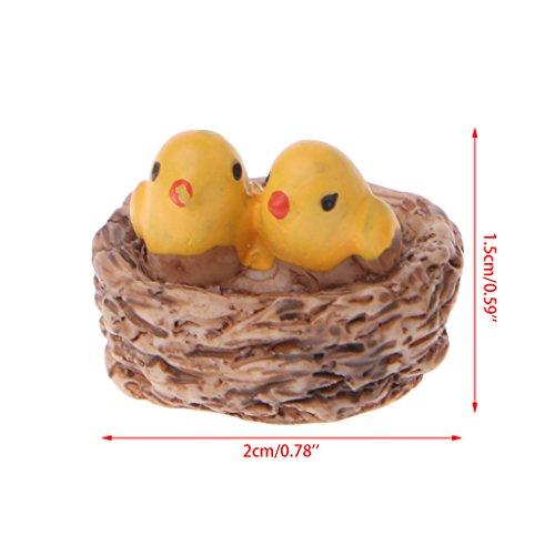Rongzou Tuinieren Gereedschap Mini Hars Vogel Figuur Miniatuur Ornamenten Ziet er Echt Landschap Bonsai Pop Speelgoed