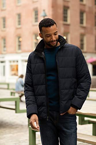 Weatherproof Puffer Jacket for Men - Winter Jackets for Men - Bubble Coat Men Black (S)