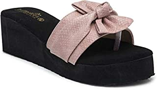 Butterflies Steps Latest Collection, Comfortable Wedges Sandal for Women's & Girl's (Pink) (GHS-0081PK)