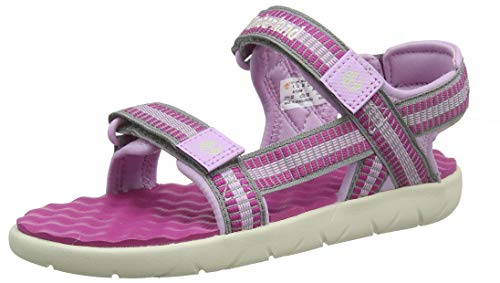 Timberland Unisex-Kinder Perkins Row-Webbing Sandalen, Pink (Fuscia Rose), 27 EU