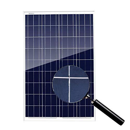 Giosolar Panneau solaire polycristallin PV 100 W 12 V pour camping-car, bateau hors réseau 12 V