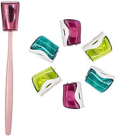 AUEAR Antibacterial Toothbrush Head Covers with Suction Cup Anti Dust Toothbrush Cover Great product image