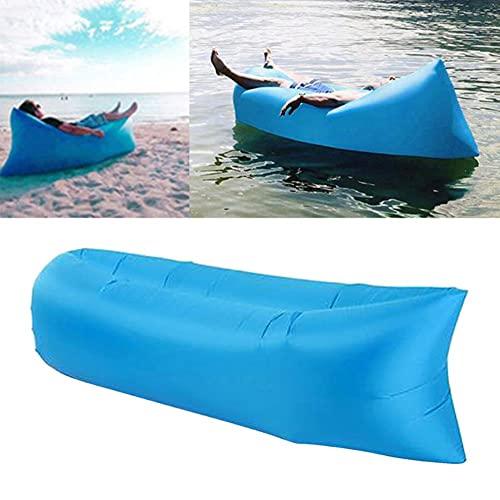 UKKO Materassino Campeggio Gommone Air Letto Divano Lounger Couch Sedie Bag Bag Hangout Esterno Camping Beach Gonfiabile Divano Divano Interno Adulti Bambini