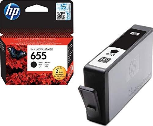 HP 655 - Cartucho de tinta para impresoras (Negro, 550 páginas, 10,69 cm (4.21'), 5-80%, -40-70 °C, 5-50 °C)