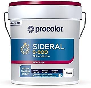 Pintura Plastica Procolor Sideral S500 Blanco mate 15 Lt