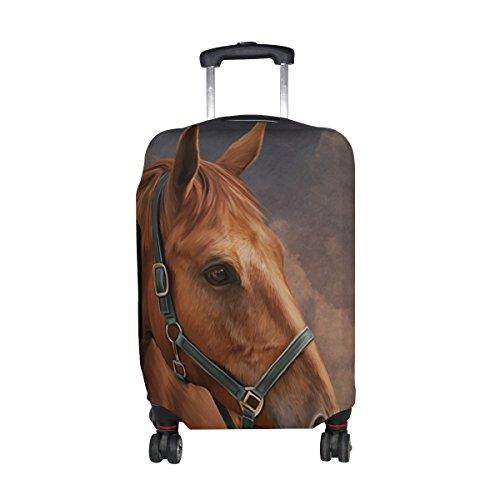 MyDaily Reisegepäck-Abdeckung, Motiv Pferd und Wolke, Vintage-Stil, passend für 45,7-81,3 cm Koffer, Spandex