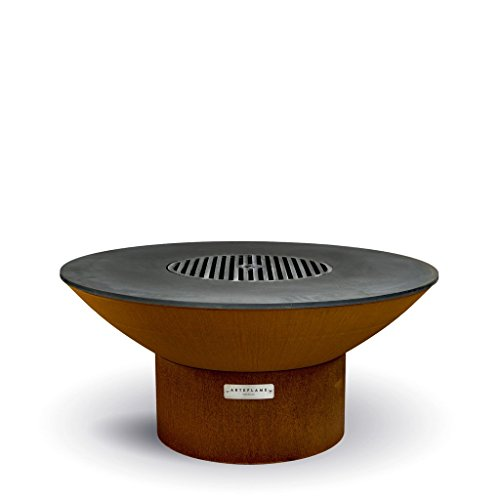 Best Bargain ARTEFLAME Classic 40 Grill with a Low Round Base. Combination Charcoal Grill, Griddle,...