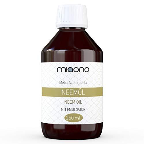 miaono Aceite de nim prensado en frío con emulsionante (Rimulgan) 250 ml premezclado inmediatamente en agua.