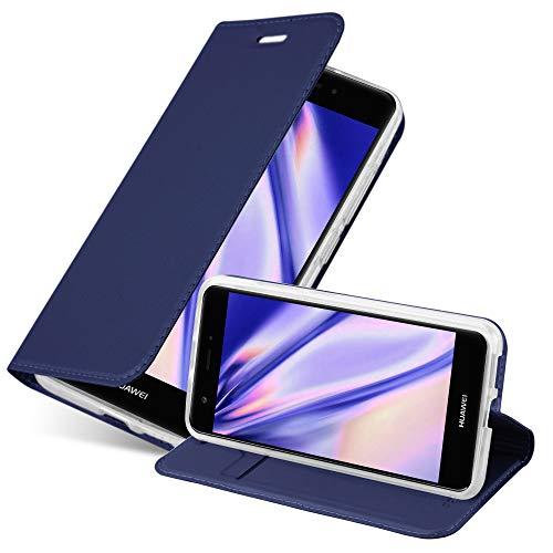 Cadorabo Funda Libro para Huawei Nova en Classy Azul Oscuro - Cubierta Proteccíon con Cierre Magnético, Tarjetero y Función de Suporte - Etui Case Cover Carcasa