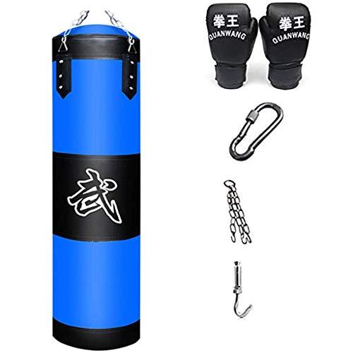XHLLX Kit de Huelga Kit de Bolsa de punción roja/Azul, Bolsa de Arena no Llena de Guantes de Cadena de Boxeo, para formación de Boxeo Sanda de Muay Thai Karate Arts Martial Taekwondo