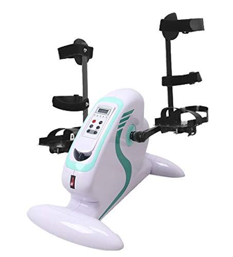 Mini Pedal ejercitador, Inmóvil Ejercicio de la Pierna Vendedor Ambulante cción con una Pierna ortopédica y Guantes de 12 ajustes de Velocidad Adecuado for los Ancianos for rehabilitar y Ejercicio