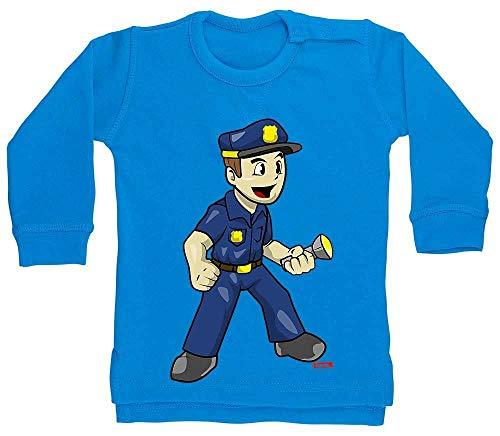 Hariz Baby Jersey Policía Witzig Linterna Policía Witizg Plus tarjetas de regalo azul Delfín azul. Talla:18-24 meses