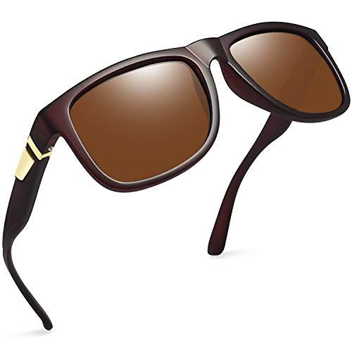 Joopin Retro Heren Zonnebrillen Gepolariseerd - Merk Designer Vierkante Zonnebril voor Heren Dames