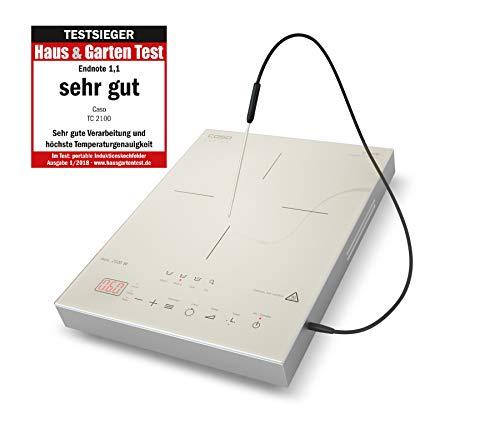 CASO TC2100 Induktionskochfeld mit Thermometer für punktgenaues Garen, ideal für SousVide