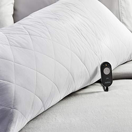 Sunbeam Heated Body Pillow, Diamond Quilting, 1500g Fill, Diamond Quilted Cover