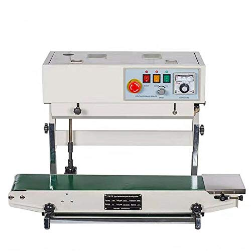 700W Stainless Steel CBS-730I Auto Vertical Bag Continuous Sealing Machine Plastic Band Print Sealer 110V USA STOCK