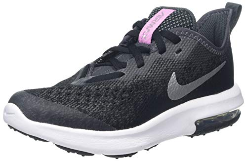 Nike Mädchen Air Max Sequent 4 Sneaker, Schwarz (Black/Metallic Silver-Anthracite-White 001), 32 EU